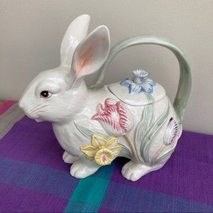 Fitz and Floyd Rabbit Teapot